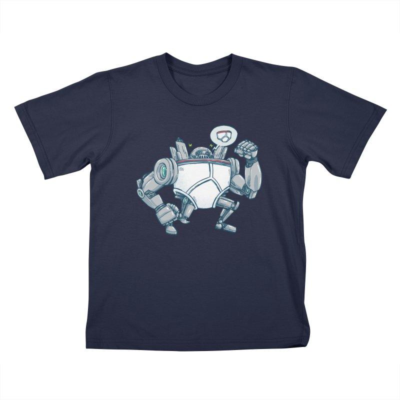 Uber UnderwearBot Kids T-Shirt by nickv47