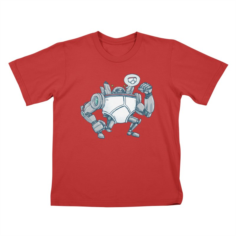 Uber UnderwearBot Kids T-Shirt by nickv47