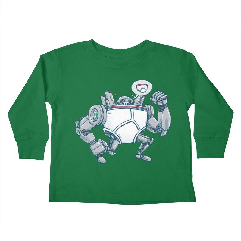 Uber UnderwearBot Kids Toddler Longsleeve T-Shirt by nickv47