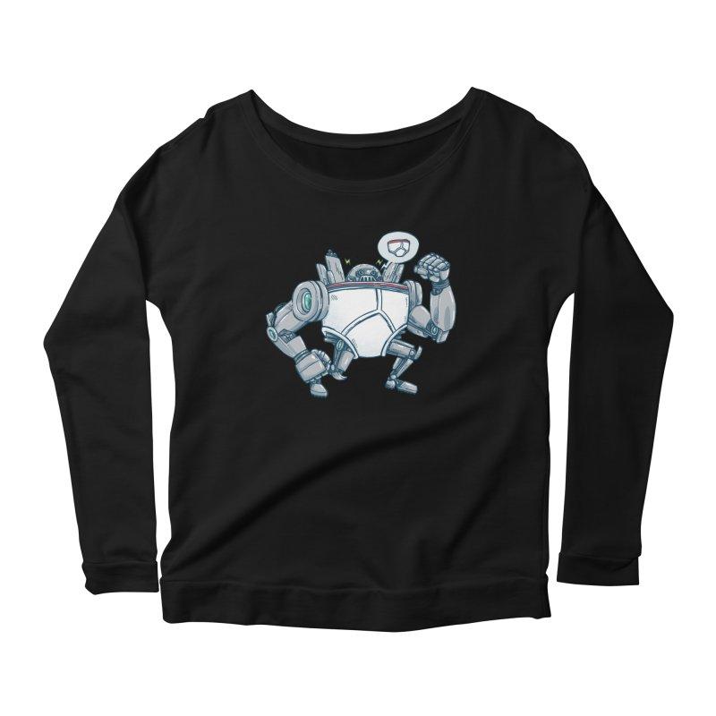 Uber UnderwearBot Women's Scoop Neck Longsleeve T-Shirt by nickv47