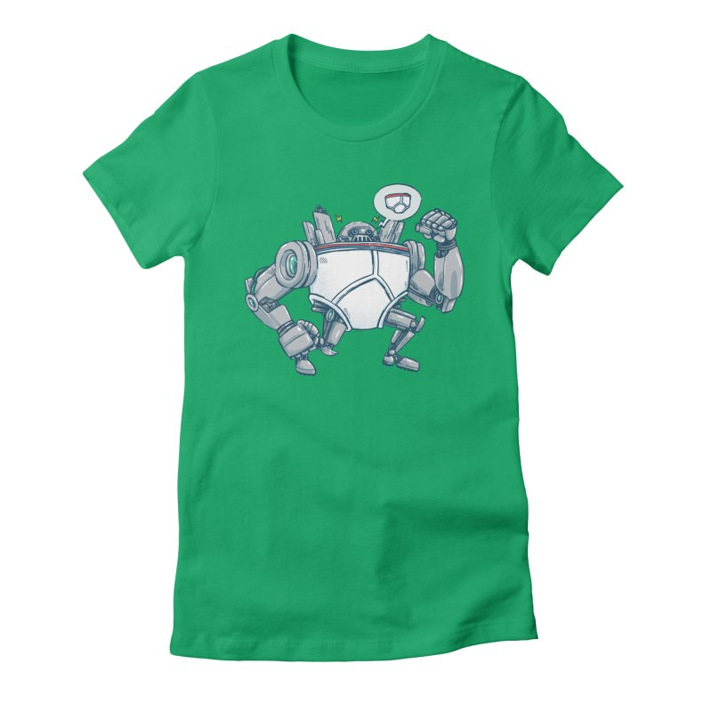 Uber UnderwearBot Women's Fitted T-Shirt by nickv47