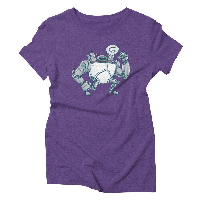 Uber UnderwearBot Women's Triblend T-Shirt by nickv47