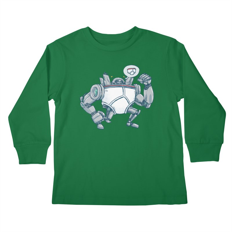 Uber UnderwearBot Kids Longsleeve T-Shirt by nickv47