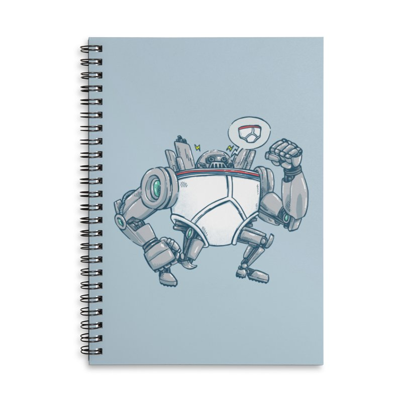 Uber UnderwearBot Accessories Lined Spiral Notebook by nickv47