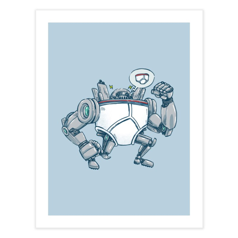 Uber UnderwearBot Home Fine Art Print by nickv47