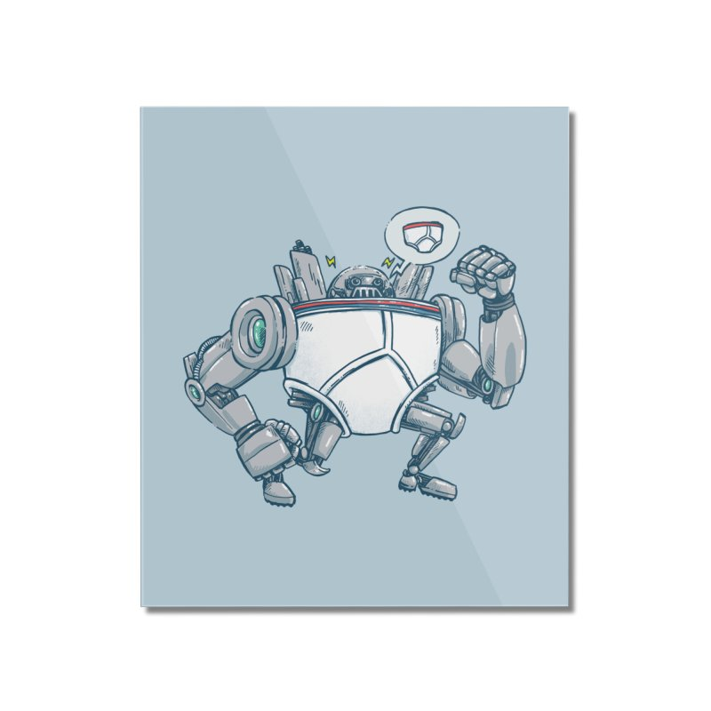 Uber UnderwearBot Home Mounted Acrylic Print by nickv47
