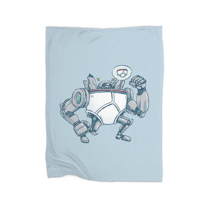 Uber UnderwearBot Home Fleece Blanket Blanket by nickv47