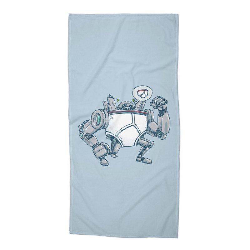 Uber UnderwearBot Accessories Beach Towel by nickv47