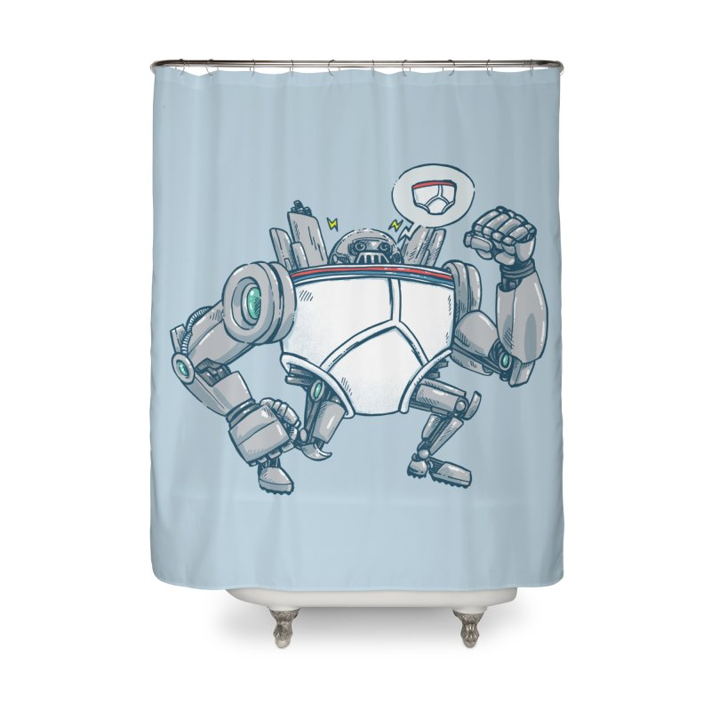 Uber UnderwearBot Home Shower Curtain by nickv47