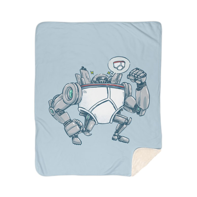 Uber UnderwearBot Home Sherpa Blanket Blanket by nickv47