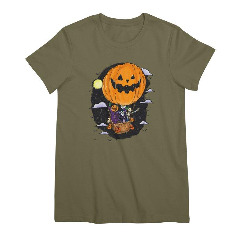 Pumpkin Hot Air Balloon Women's Premium T-Shirt by nickv47