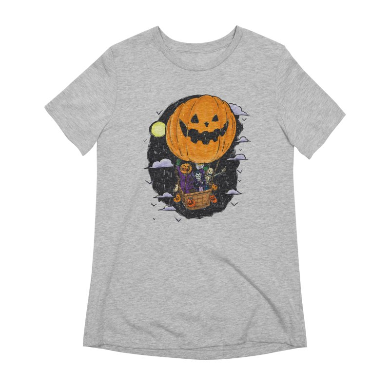 Pumpkin Hot Air Balloon Women's Extra Soft T-Shirt by nickv47