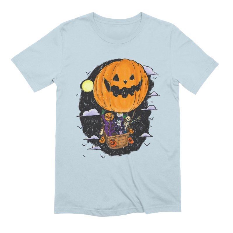Pumpkin Hot Air Balloon Men's Extra Soft T-Shirt by nickv47
