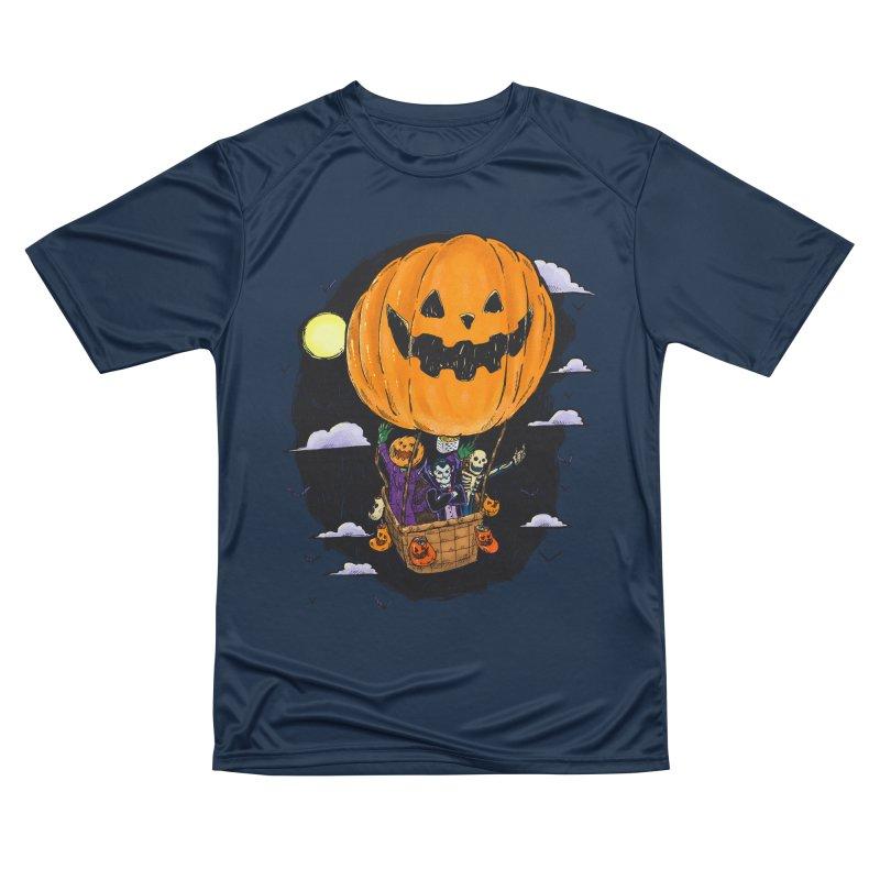 Pumpkin Hot Air Balloon Women's Performance Unisex T-Shirt by nickv47