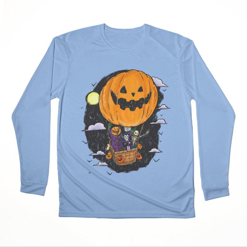 Pumpkin Hot Air Balloon Men's Longsleeve T-Shirt by nickv47