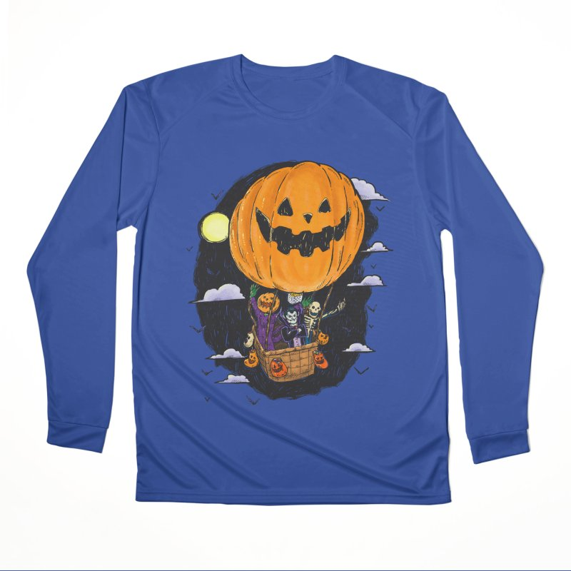 Pumpkin Hot Air Balloon Women's Performance Unisex Longsleeve T-Shirt by nickv47