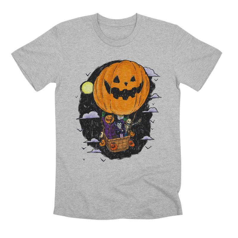 Pumpkin Hot Air Balloon Men's Premium T-Shirt by nickv47