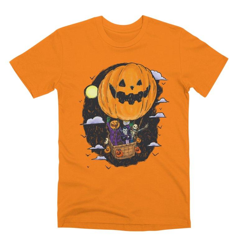 Pumpkin Hot Air Balloon Men's Premium T-Shirt by nickv47
