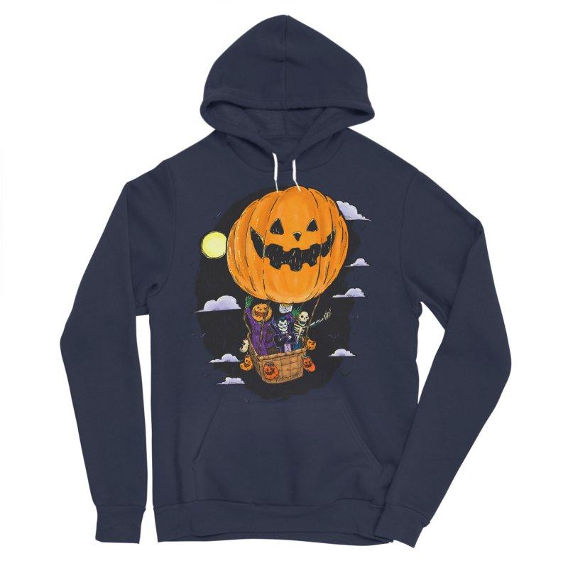 Pumpkin Hot Air Balloon Women's Sponge Fleece Pullover Hoody by nickv47