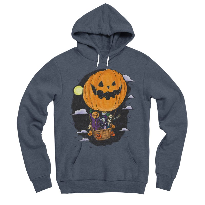 Pumpkin Hot Air Balloon Men's Sponge Fleece Pullover Hoody by nickv47