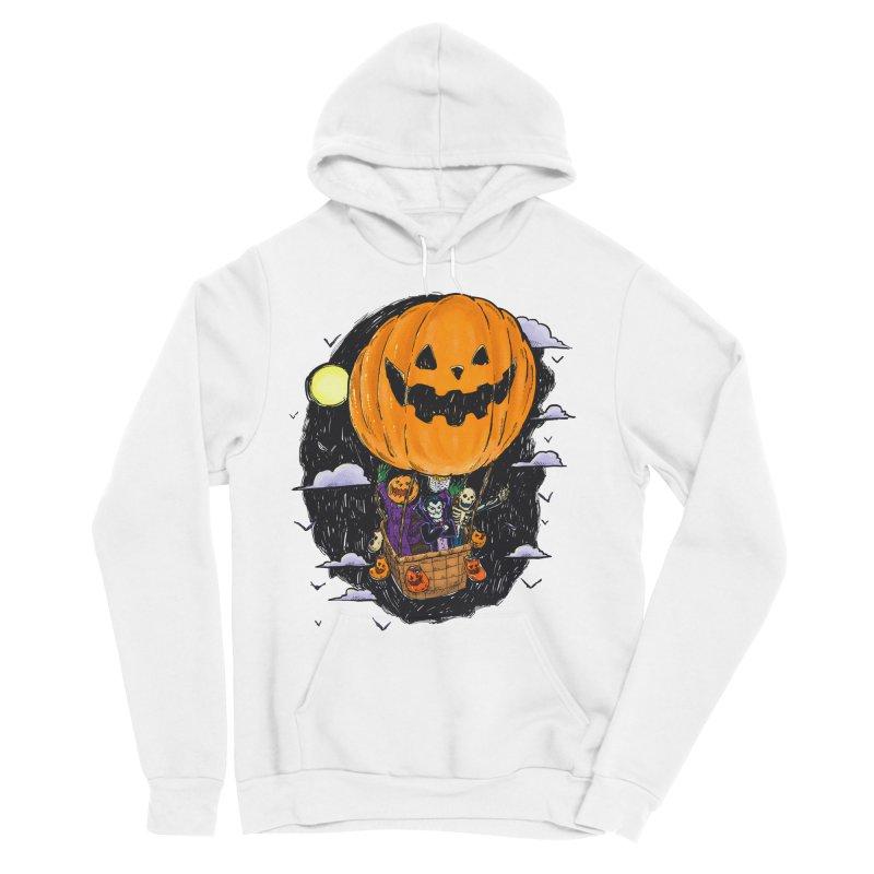Pumpkin Hot Air Balloon Men's Sponge Fleece Pullover Hoody by nickv47