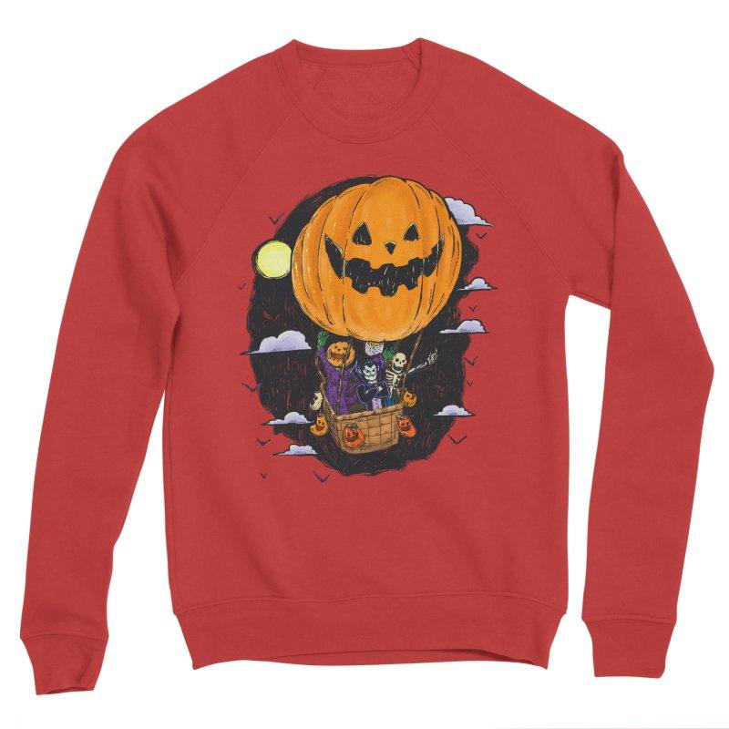 Pumpkin Hot Air Balloon Men's Sponge Fleece Sweatshirt by nickv47