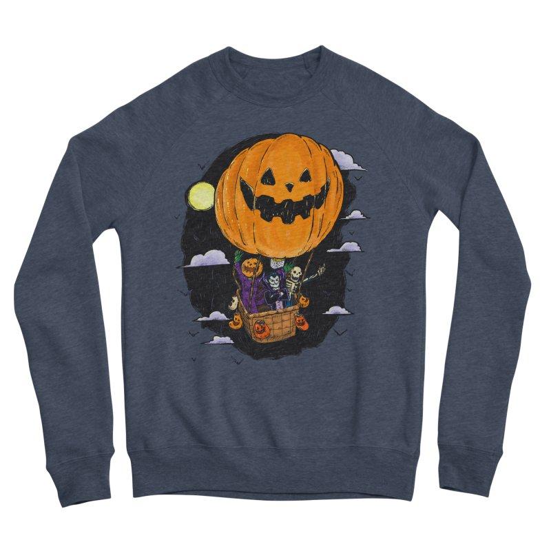 Pumpkin Hot Air Balloon Women's Sponge Fleece Sweatshirt by nickv47