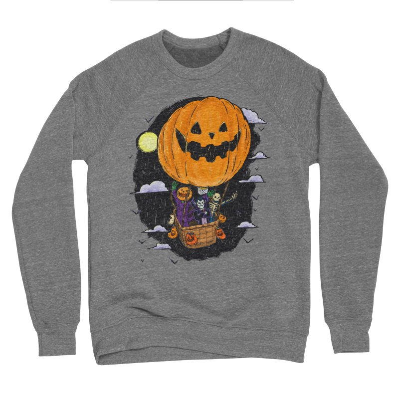 Pumpkin Hot Air Balloon Women's Sponge Fleece Sweatshirt by nickv47