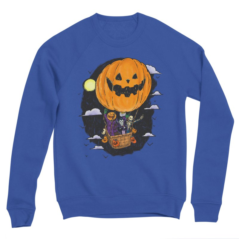 Pumpkin Hot Air Balloon Men's Sweatshirt by nickv47