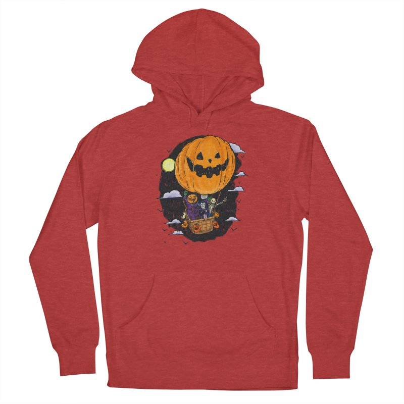 Pumpkin Hot Air Balloon Men's French Terry Pullover Hoody by nickv47