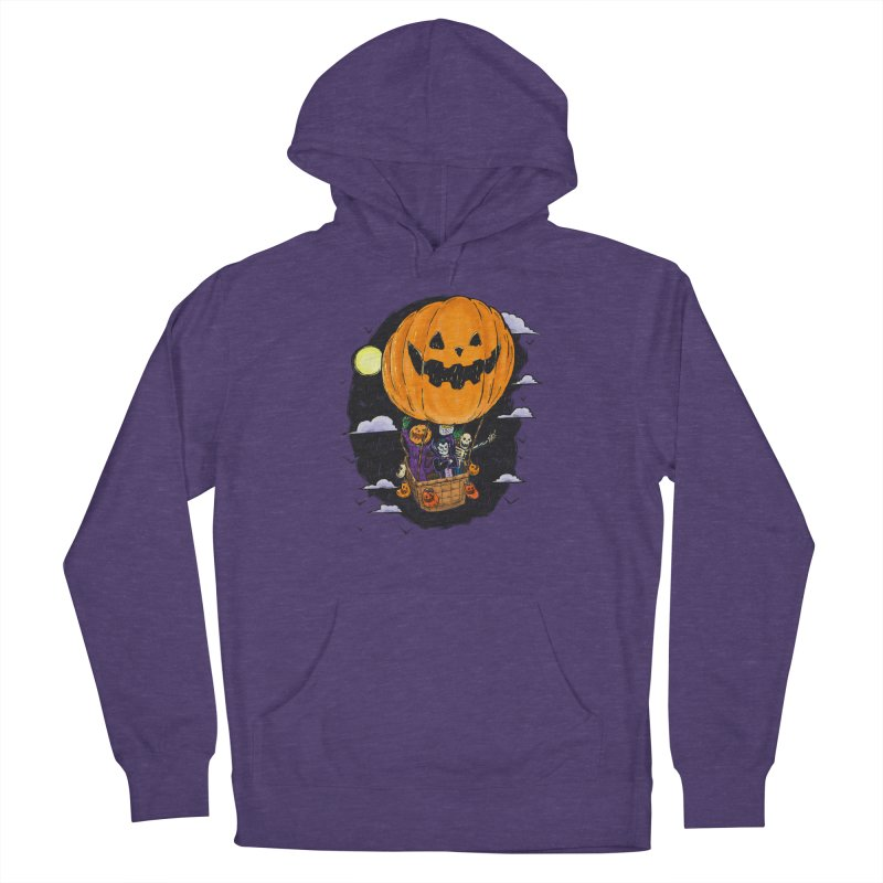 Pumpkin Hot Air Balloon Women's French Terry Pullover Hoody by nickv47