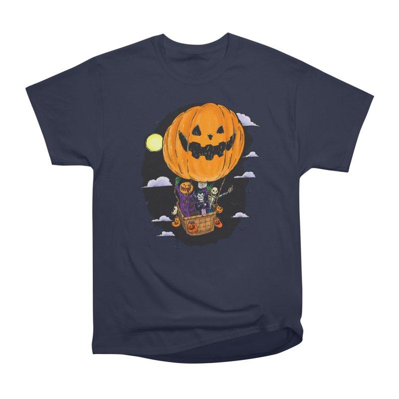 Pumpkin Hot Air Balloon Women's Heavyweight Unisex T-Shirt by nickv47
