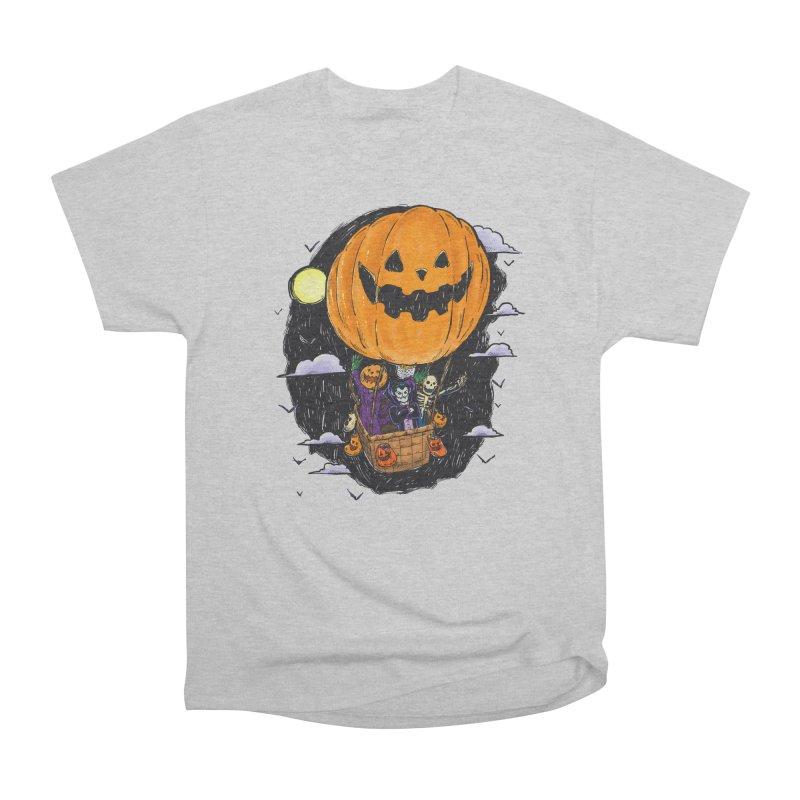 Pumpkin Hot Air Balloon Men's Heavyweight T-Shirt by nickv47