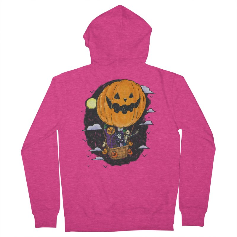 Pumpkin Hot Air Balloon Women's French Terry Zip-Up Hoody by nickv47