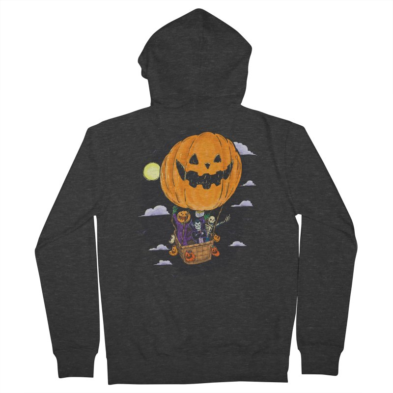 Pumpkin Hot Air Balloon Men's French Terry Zip-Up Hoody by nickv47