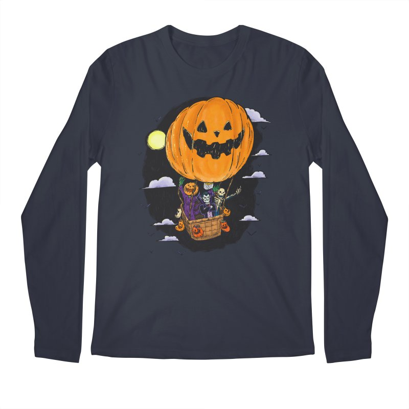 Pumpkin Hot Air Balloon Men's Regular Longsleeve T-Shirt by nickv47