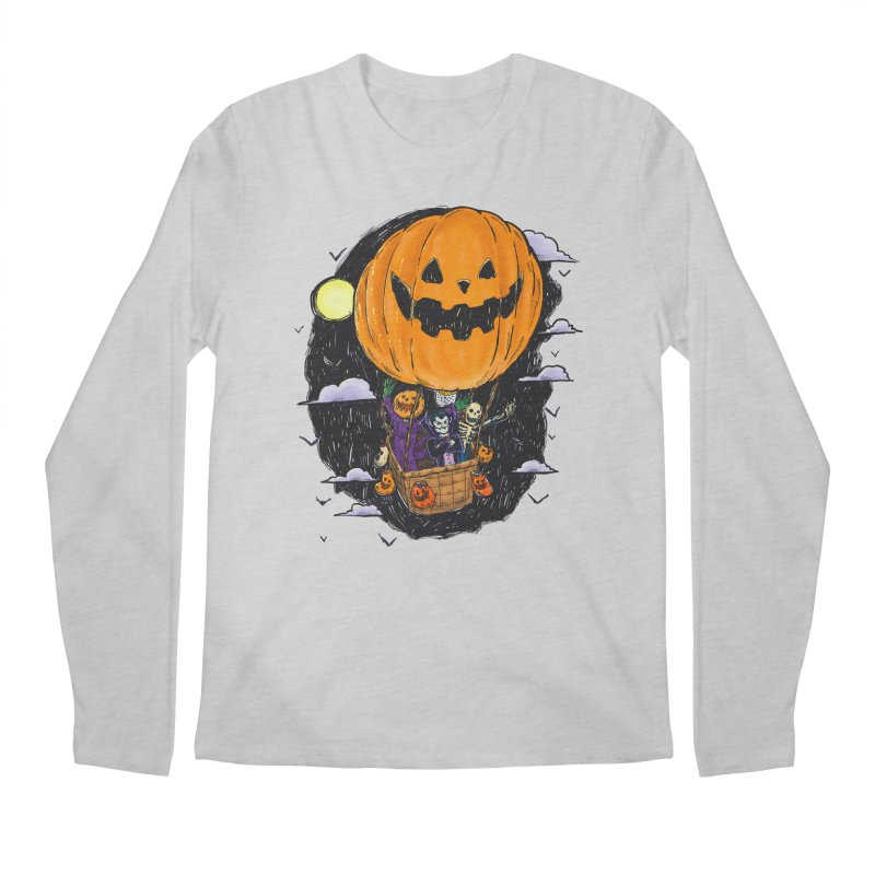 Pumpkin Hot Air Balloon Men's Regular Longsleeve T-Shirt by nickv47