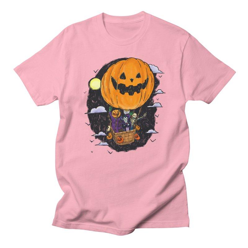 Pumpkin Hot Air Balloon Men's Regular T-Shirt by nickv47