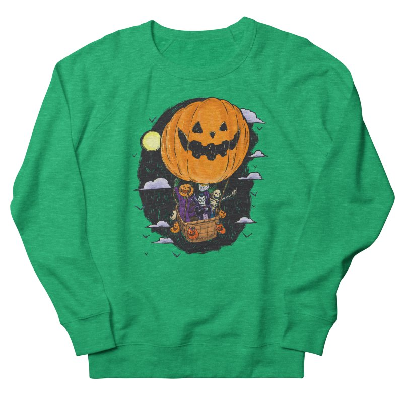 Pumpkin Hot Air Balloon Women's French Terry Sweatshirt by nickv47