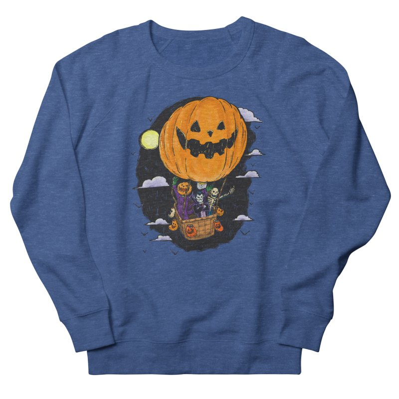 Pumpkin Hot Air Balloon Women's French Terry Sweatshirt by nickv47