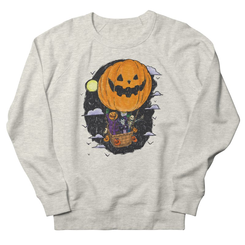 Pumpkin Hot Air Balloon Men's French Terry Sweatshirt by nickv47