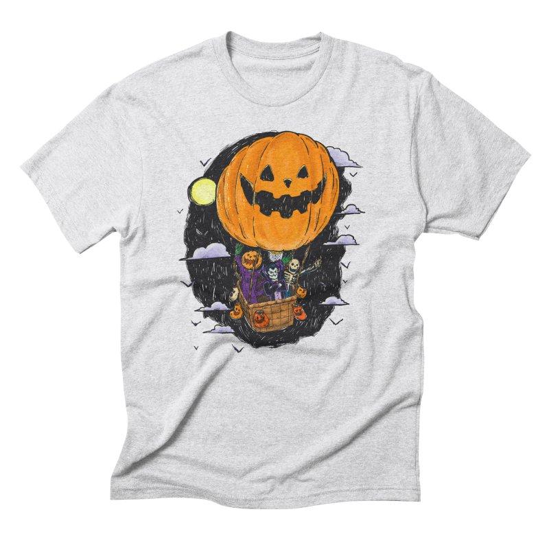Pumpkin Hot Air Balloon Men's Triblend T-Shirt by nickv47
