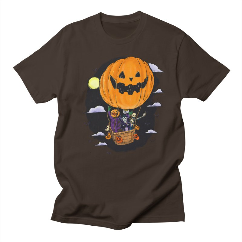 Pumpkin Hot Air Balloon Men's Regular T-Shirt by nickv47