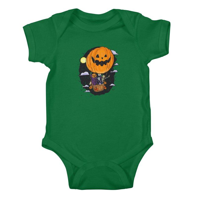 Pumpkin Hot Air Balloon Kids Baby Bodysuit by nickv47
