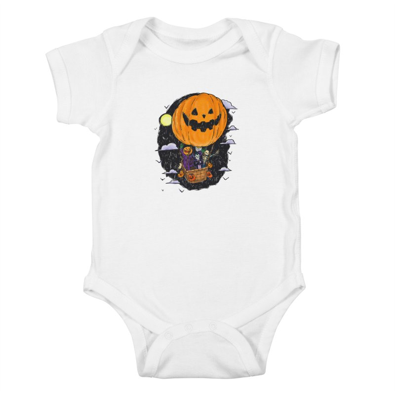 Pumpkin Hot Air Balloon Kids Baby Bodysuit by nickv47