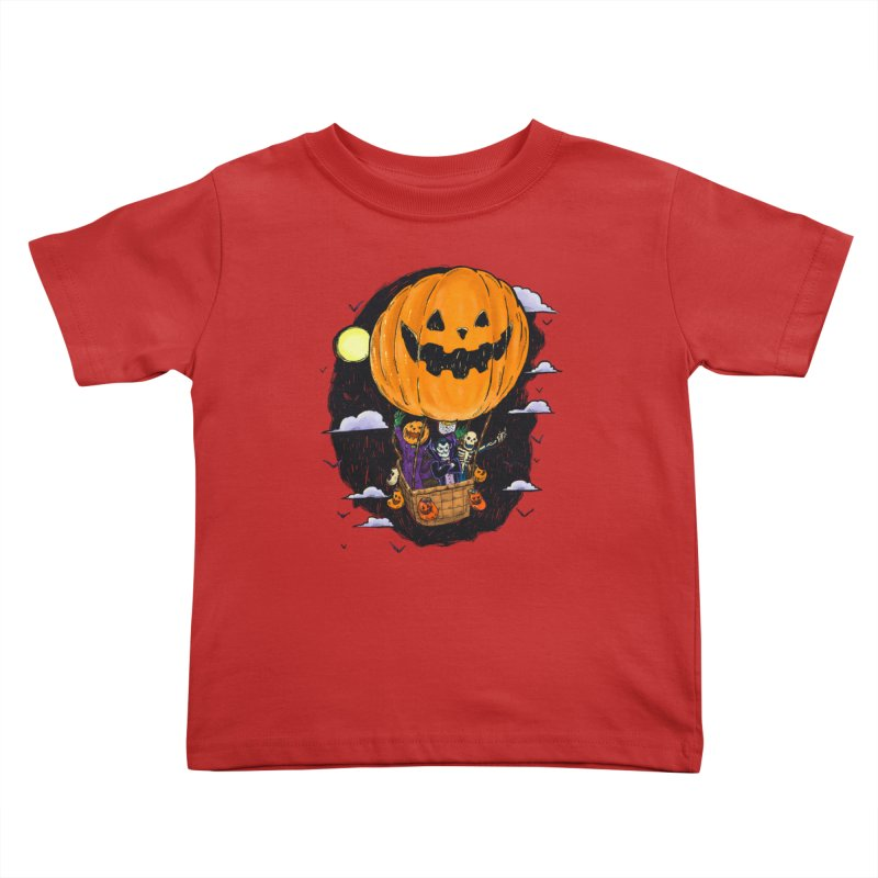 Pumpkin Hot Air Balloon Kids Toddler T-Shirt by nickv47