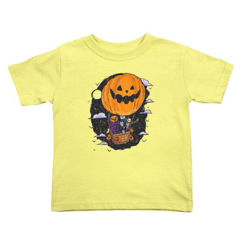 Pumpkin Hot Air Balloon Kids Toddler T-Shirt by nickv47