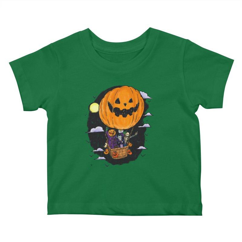 Pumpkin Hot Air Balloon Kids Baby T-Shirt by nickv47