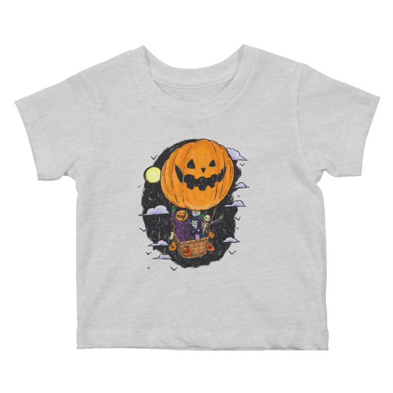 Pumpkin Hot Air Balloon Kids Baby T-Shirt by nickv47
