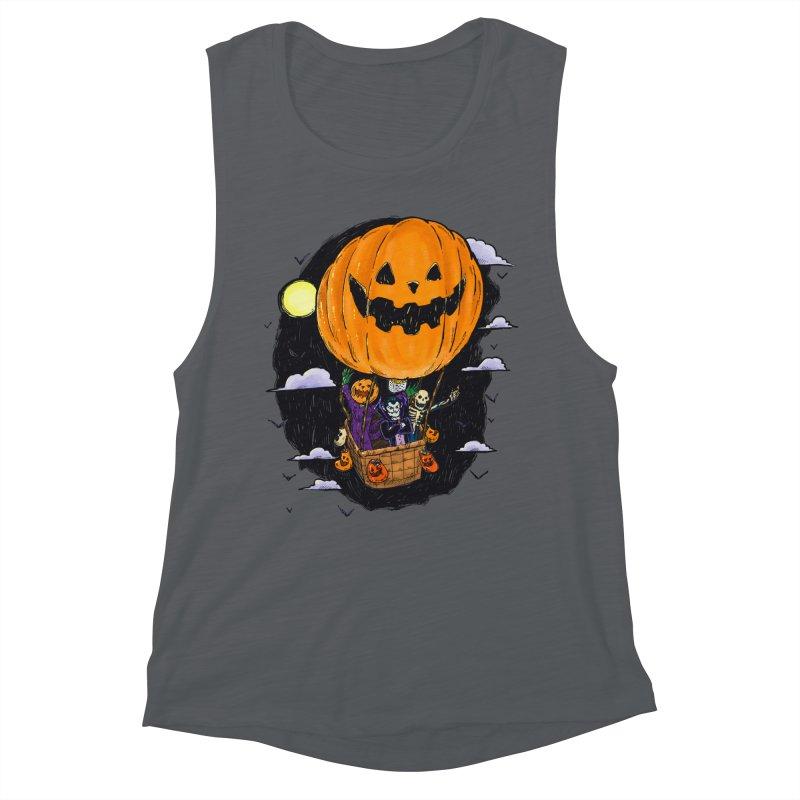 Pumpkin Hot Air Balloon Women's Muscle Tank by nickv47